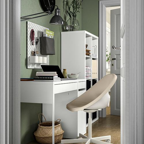 MICKE/ELDBERGET/KALLAX - desk and storage combination, and swivel chair white/beige   IKEA Hong Kong and Macau - PE834564_S4