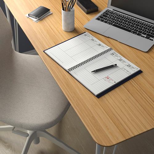BILLY/OXBERG/ANFALLARE/LÅNGFJÄLL - 書檯連貯物組合, and swivel chair bamboo/beige white | IKEA 香港及澳門 - PE834573_S4
