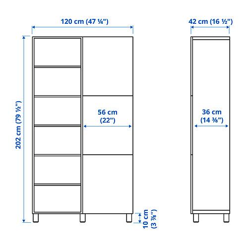 BESTÅ - storage combination with doors, white/Västerviken dark grey | IKEA Hong Kong and Macau - PE834583_S4