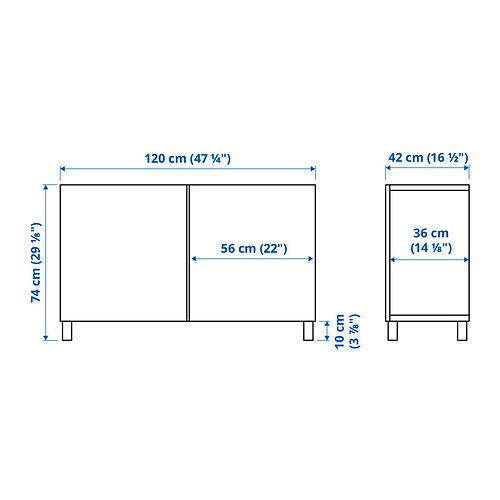 BESTÅ - 貯物組合連門, black-brown/Lappviken/Stubbarp light grey-beige | IKEA 香港及澳門 - PE834585_S4