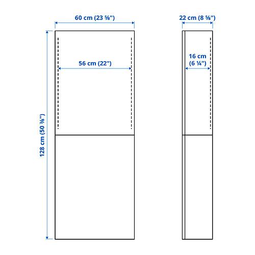 BESTÅ - 雙門吊櫃, white/Lappviken light grey-beige | IKEA 香港及澳門 - PE834589_S4
