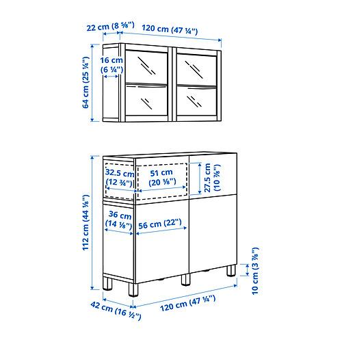 BESTÅ - 貯物組合連門/抽屜, white Riksviken/Stubbarp/light bronze effect clear glass | IKEA 香港及澳門 - PE834590_S4
