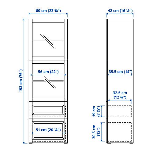 BESTÅ - 玻璃門貯物組合, white Lappviken/light grey-beige clear glass | IKEA 香港及澳門 - PE834591_S4