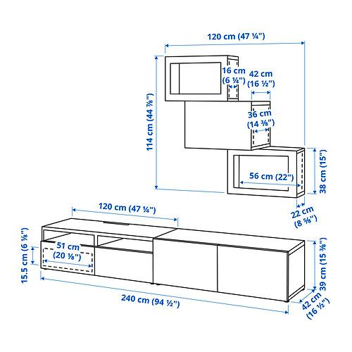 BESTÅ - 電視貯物組合/玻璃門, black-brown/Hanviken black-brown clear glass | IKEA 香港及澳門 - PE834616_S4