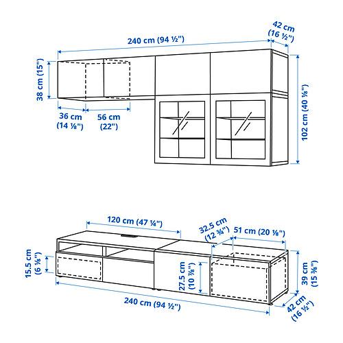 BESTÅ - 電視貯物組合/玻璃門, black-brown/Hanviken black-brown clear glass | IKEA 香港及澳門 - PE834612_S4