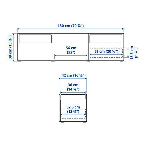 BESTÅ - 電視几連抽屜/門, white/Kallviken dark grey | IKEA 香港及澳門 - PE834624_S4