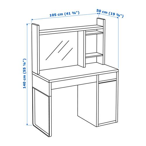 MICKE - desk, width 105 x depth 50cm, white | IKEA Hong Kong and Macau - PE645238_S4