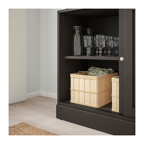 HAVSTA - storage comb w sliding glass doors, dark brown | IKEA Hong Kong and Macau - PE693093_S4