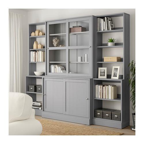 HAVSTA - storage comb w sliding glass doors, grey | IKEA Hong Kong and Macau - PE693124_S4