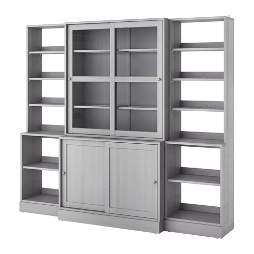 HAVSTA - storage comb w sliding glass doors, grey | IKEA Hong Kong and Macau - PE693125_S4