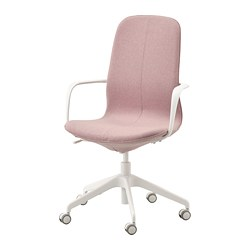 LÅNGFJÄLL - office chair with armrests, Gunnared light brown-pink/white | IKEA Hong Kong and Macau - PE735455_S3
