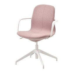 LÅNGFJÄLL - conference chair with armrests, gunnared light brown-pink/black | IKEA Hong Kong and Macau - PE735457_S3