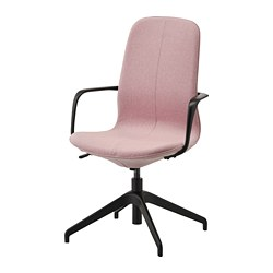 LÅNGFJÄLL - conference chair with armrests, gunnared light brown-pink/black   IKEA Hong Kong and Macau - PE735461_S3