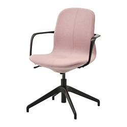 LÅNGFJÄLL - conference chair with armrests, Gunnared light brown-pink/black   IKEA Hong Kong and Macau - PE735465_S3