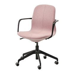 LÅNGFJÄLL - office chair with armrests, Gunnared light brown-pink/black | IKEA Hong Kong and Macau - PE735462_S3