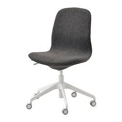 LÅNGFJÄLL - office chair, Gunnared dark grey/white   IKEA Hong Kong and Macau - PE735474_S3