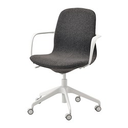LÅNGFJÄLL - office chair with armrests, Gunnared dark grey/white | IKEA Hong Kong and Macau - PE735473_S3
