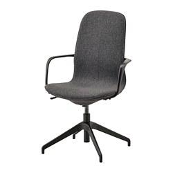 LÅNGFJÄLL - conference chair with armrests, Gunnared dark grey/black   IKEA Hong Kong and Macau - PE735479_S3