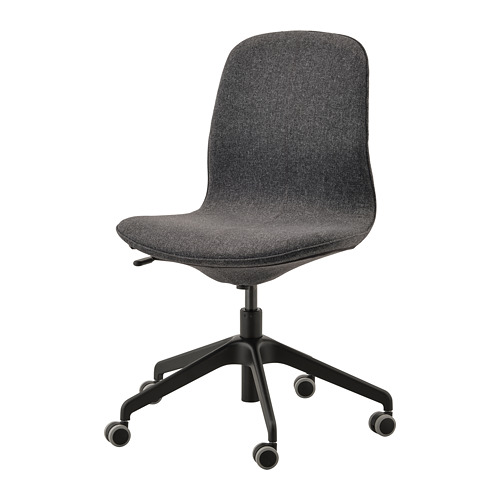 LÅNGFJÄLL - office chair, Gunnared dark grey/black | IKEA Hong Kong and Macau - PE735480_S4