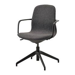 LÅNGFJÄLL - conference chair with armrests, Gunnared dark grey/black   IKEA Hong Kong and Macau - PE735481_S3