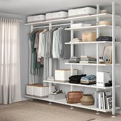 ELVARLI - 4 sections/shelves, white | IKEA Hong Kong and Macau - PE789591_S3
