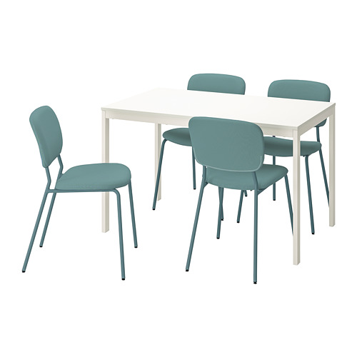VANGSTA/KARLJAN - table and 4 chairs, white/turquoise | IKEA Hong Kong and Macau - PE789605_S4