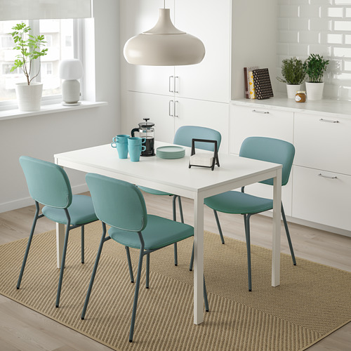 VANGSTA/KARLJAN - table and 4 chairs, white/turquoise | IKEA Hong Kong and Macau - PE789604_S4