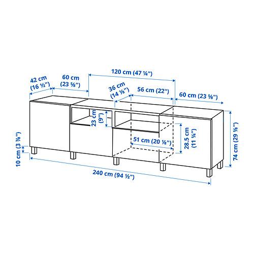 BESTÅ - 電視几連抽屜/門, white/Riksviken/Stubbarp light bronze effect | IKEA 香港及澳門 - PE834627_S4