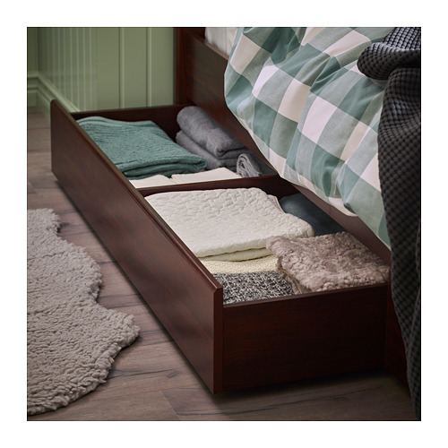 SONGESAND - bed frame with 2 storage boxes, luröy, double | IKEA Hong Kong and Macau - PH149552_S4