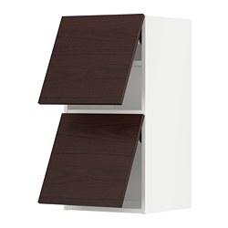 METOD - wall cabinet horizontal w 2 doors, white Askersund/dark brown ash effect | IKEA Hong Kong and Macau - PE789638_S3