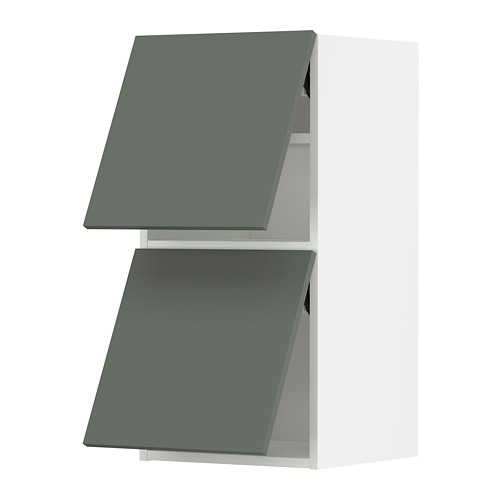 METOD - wall cab horizo 2 doors w push-open, white/Bodarp grey-green | IKEA Hong Kong and Macau - PE789636_S4