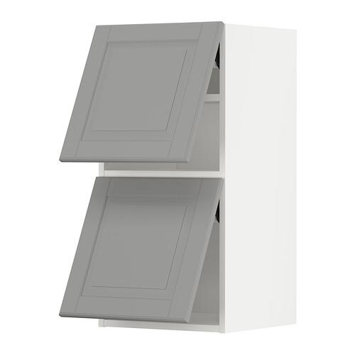 METOD - wall cab horizo 2 doors w push-open, white/Bodbyn grey | IKEA Hong Kong and Macau - PE789640_S4
