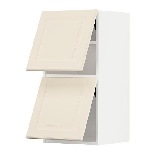 METOD - wall cab horizo 2 doors w push-open, white/Bodbyn off-white   IKEA Hong Kong and Macau - PE789624_S4