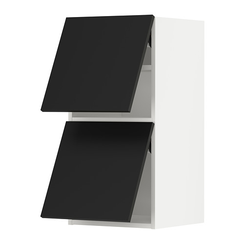 METOD - wall cabinet horizontal w 2 doors, white/Uddevalla anthracite | IKEA Hong Kong and Macau - PE789639_S4