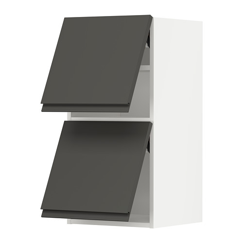METOD - wall cab horizo 2 doors w push-open, white/Voxtorp dark grey | IKEA Hong Kong and Macau - PE789632_S4