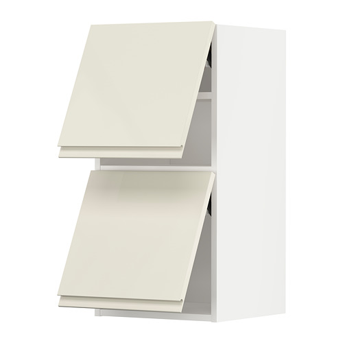 METOD - wall cabinet horizontal w 2 doors, white/Voxtorp high-gloss light beige | IKEA Hong Kong and Macau - PE789645_S4