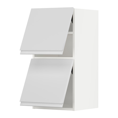 METOD - wall cab horizo 2 doors w push-open, white/Voxtorp high-gloss/white | IKEA Hong Kong and Macau - PE789633_S4