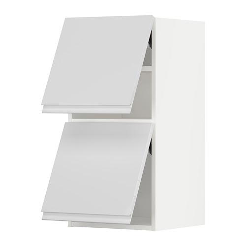 METOD - wall cab horizo 2 doors w push-open, white/Voxtorp high-gloss/white | IKEA 香港及澳門 - PE789633_S4