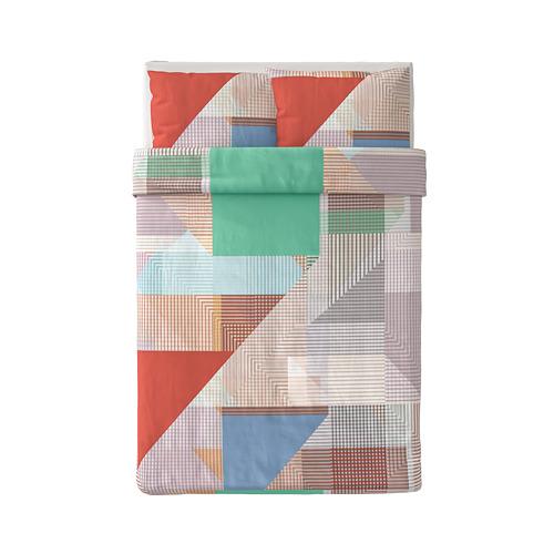 PIMPERNÖT - 被套連2個枕袋, 彩色, 200x200/50x80 cm | IKEA 香港及澳門 - PE790018_S4