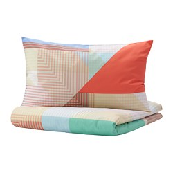 PIMPERNÖT - quilt cover and 2 pillowcases, multicolour, 200x200/50x80 cm | IKEA Hong Kong and Macau - PE790015_S3