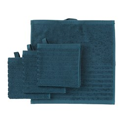 VÅGSJÖN - washcloth, dark blue | IKEA Hong Kong and Macau - PE693207_S3