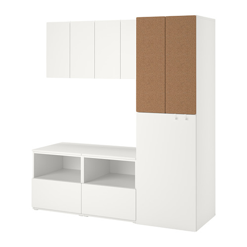 PLATSA/SMÅSTAD - storage combination, white cork/with pull-out | IKEA Hong Kong and Macau - PE789685_S4