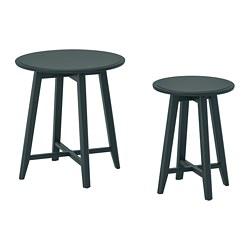 KRAGSTA - nest of tables, set of 2, dark blue-green | IKEA Hong Kong and Macau - PE735574_S3