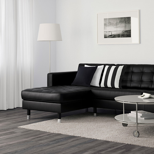 LANDSKRONA - 5-seat sofa, with chaise longues/Grann/Bomstad black/metal | IKEA Hong Kong and Macau - PE599171_S4
