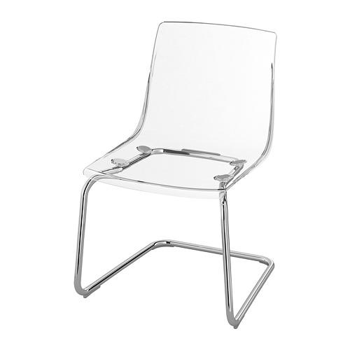 TOBIAS - chair, transparent/chrome-plated   IKEA Hong Kong and Macau - PE735614_S4