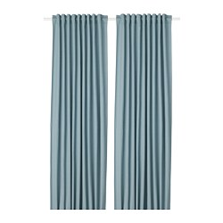 TIBAST - curtains, 1 pair, blue | IKEA Hong Kong and Macau - PE693358_S3
