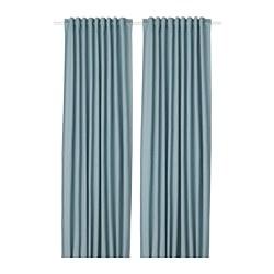 TIBAST - 窗簾,一對, 藍色 | IKEA 香港及澳門 - PE693358_S3