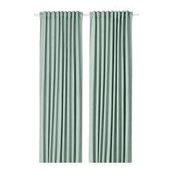 TIBAST - curtains, 1 pair, green | IKEA Hong Kong and Macau - PE693363_S3