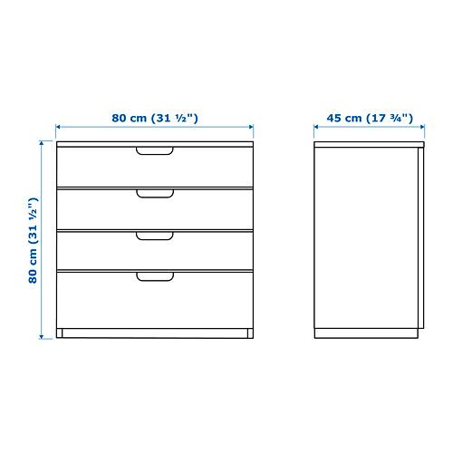 GALANT - 抽屜組合, 染黑梣木飾面   IKEA 香港及澳門 - PE645442_S4
