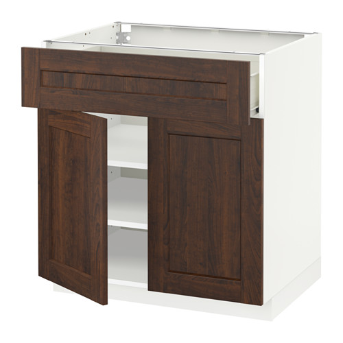 METOD/FÖRVARA base cabinet with drawer/2 doors